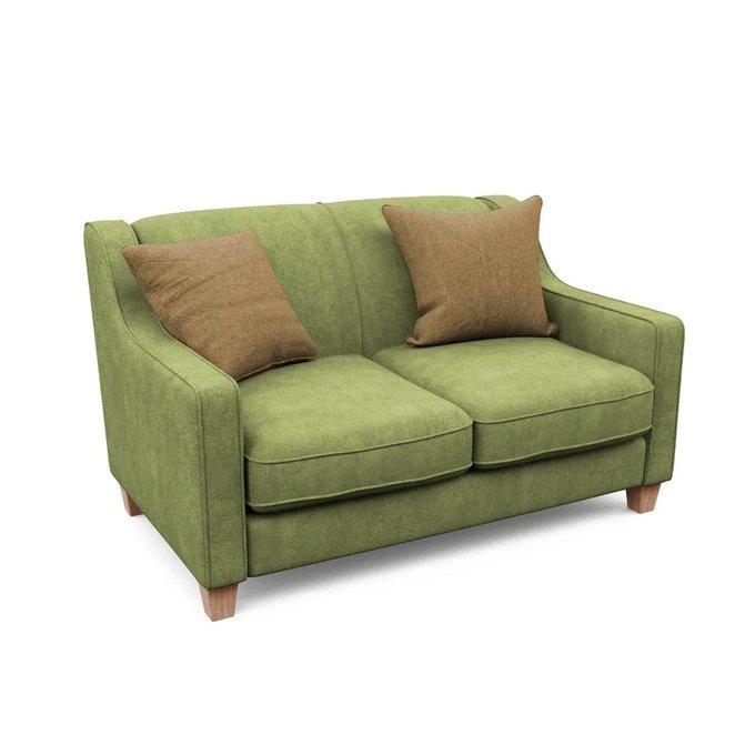 Двухместный диван Агата S зеленого цвета