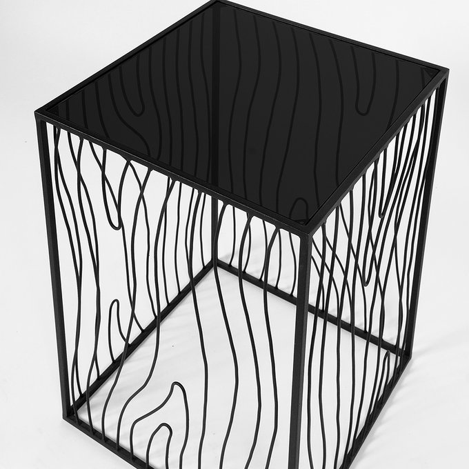Кофейный столик Poole lite black черное стекло