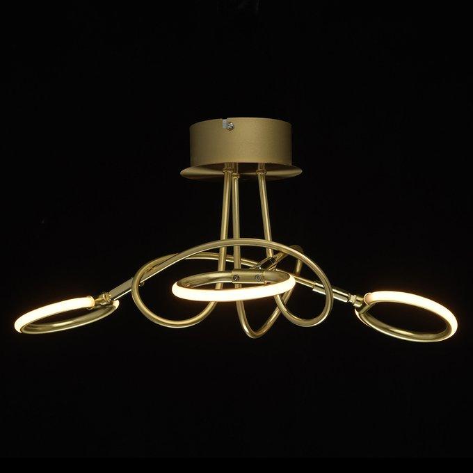 Потолочная светодиодная люстра Этингер золотого цвета
