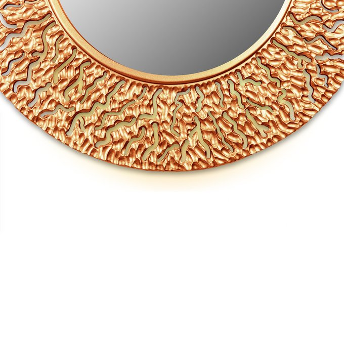 Настенное зеркало CORAL round bronze