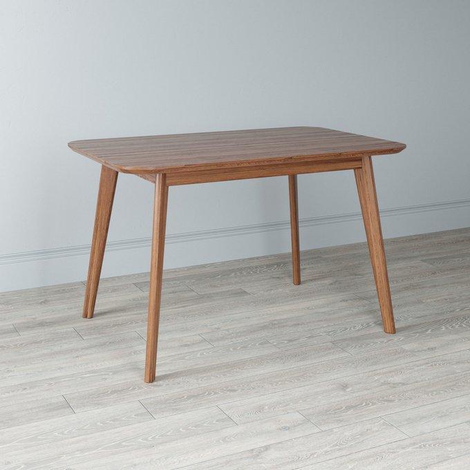 Стол обеденный Elia с подстольем из массива цвета светлый орех 120х75