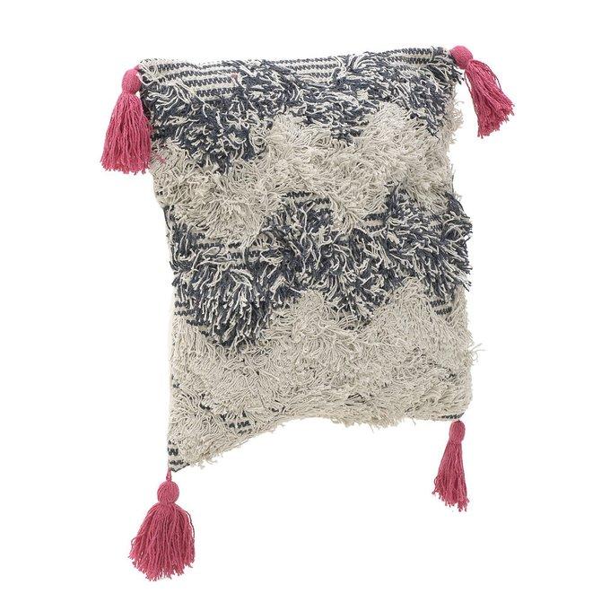 Декоративная подушка бело-серого цвета