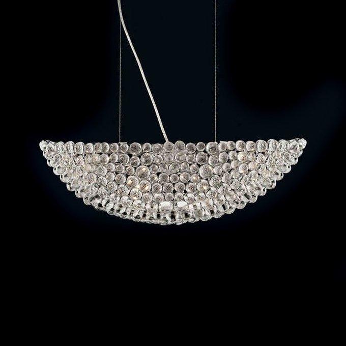 Подвесной светильник Illuminati  из множества декоративных элементов из прозрачного стекла