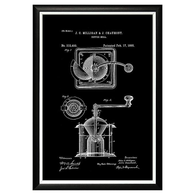 Арт-постер Патент на кофемолку 1885