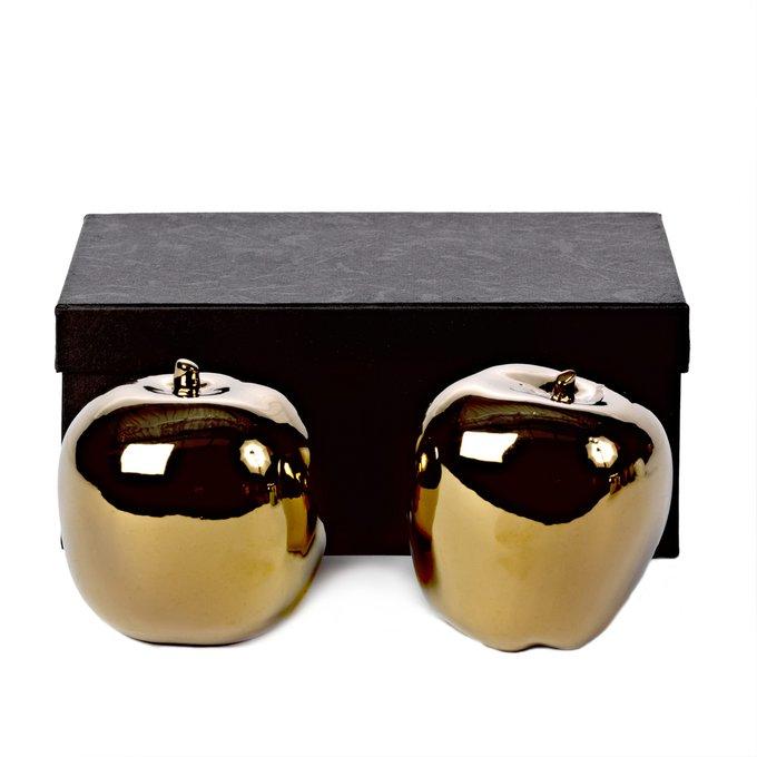 Комплект из двух декоров Apple gold золотого цвета
