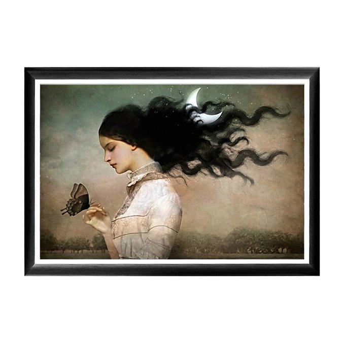 Арт-постер Мисс Луна в раме из полистирола