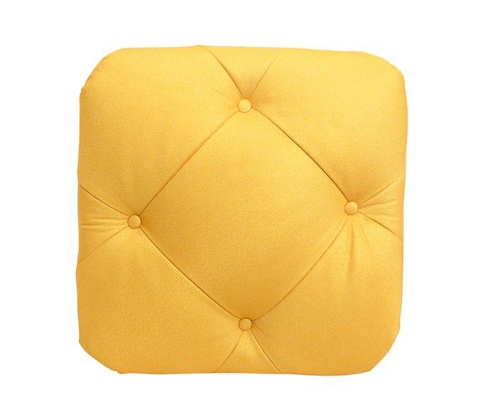 Пуф Amrit желтого цвета