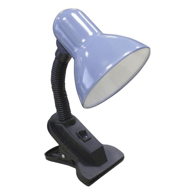 Настольная лампа Рагана с плафоном голубого цвета
