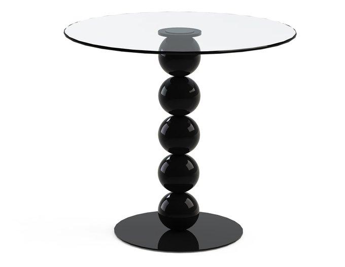 """Обеденный стол """"BLINTER Black"""" со столешницей из закаленного стекла"""