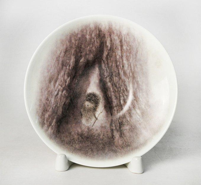 """Чашка с блюдцем """"Дерево"""" (""""Ёжик в тумане"""")"""
