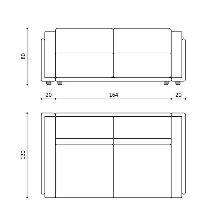 Диван-кровать Vento light двухместный черного цвета