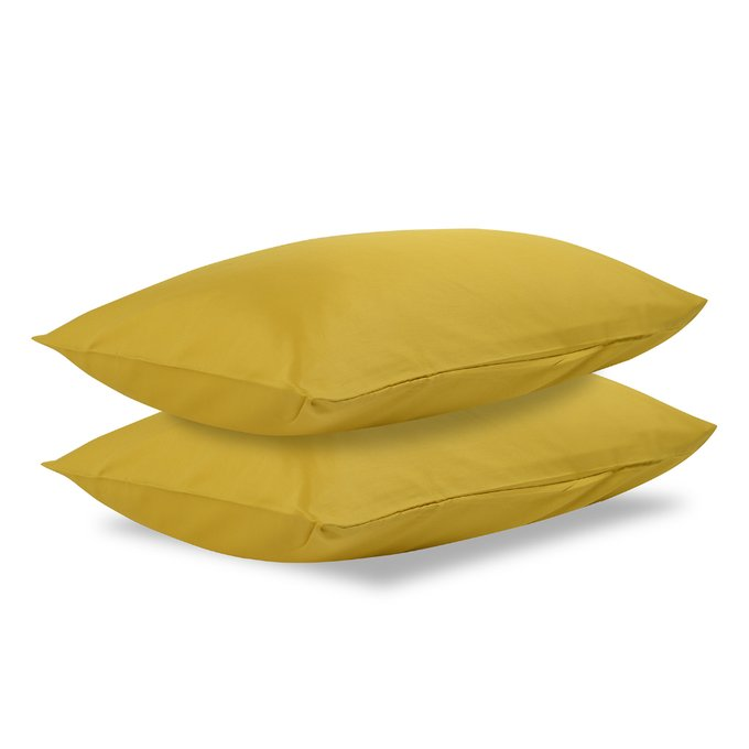 Комплект постельного белья Essential из сатина горчичного цвета 200х210