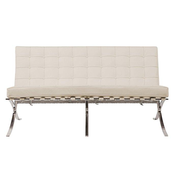 Двухместный диван Barcelona молочного цвета