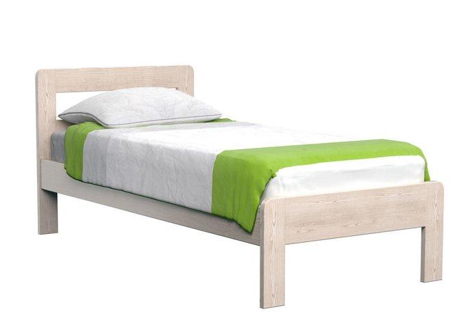 Кровать Кредо 1 из массива тополя-олива 90х190