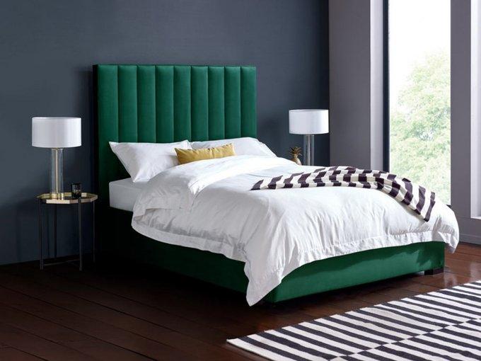 Кровать Bottoms зеленого цвета 160х200