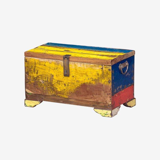 Сундук Гала желто-синего цвета
