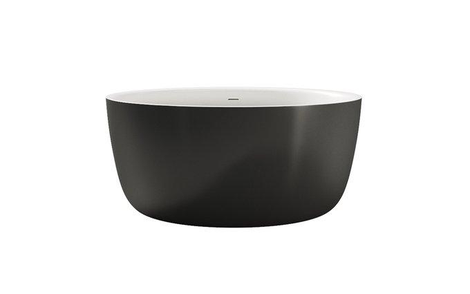 Каменная Ванна Purescape Черно-Белая в виде чаши
