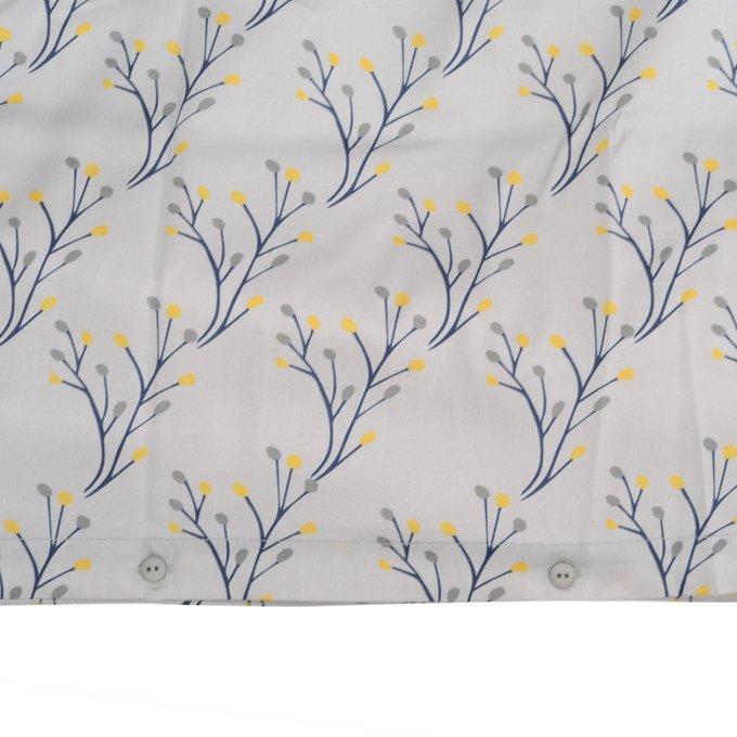 Комплект постельного белья Essential из сатина с принтом соцветие 150х200
