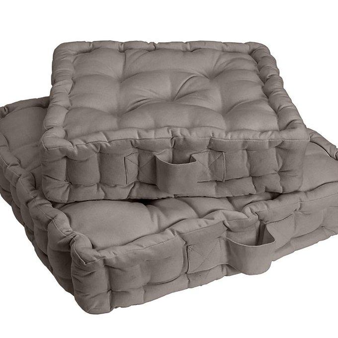 Напольная подушка Scenario серо-коричневого цвета 38x38x10