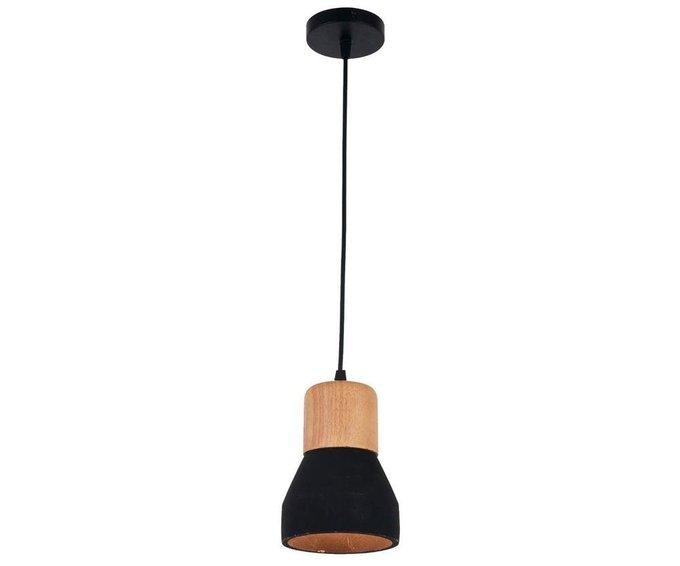 Подвесной светильник Фаро черно-коричневого цвета