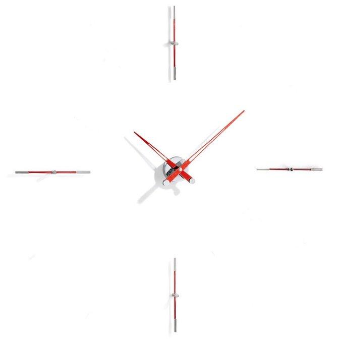 Настенные часы Merlin с красными стрелками