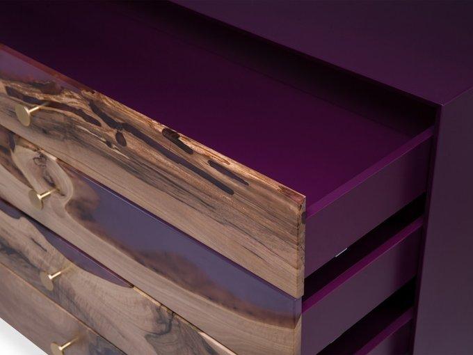 Комод Tornado Violet с четырьмя выдвижными ящиками