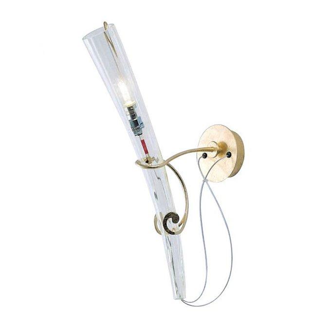 Настенный светильник Lamp International из прозрачного муранского стекла