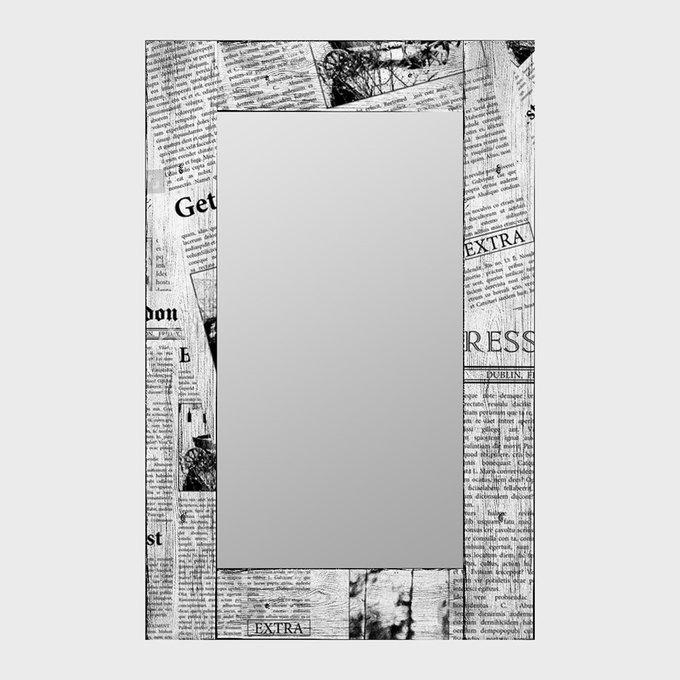 Настенное зеркало Ньюз Вик в раме из массива сосны 50х65