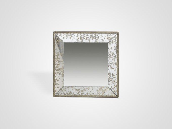 Настенное зеркало-поднос с золотистым узором