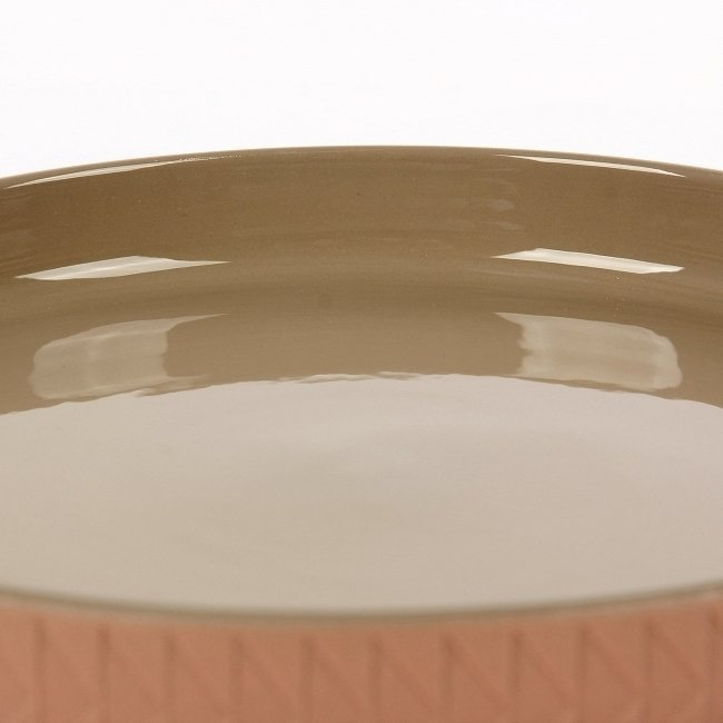 Тарелка Tactile коричневого цвета