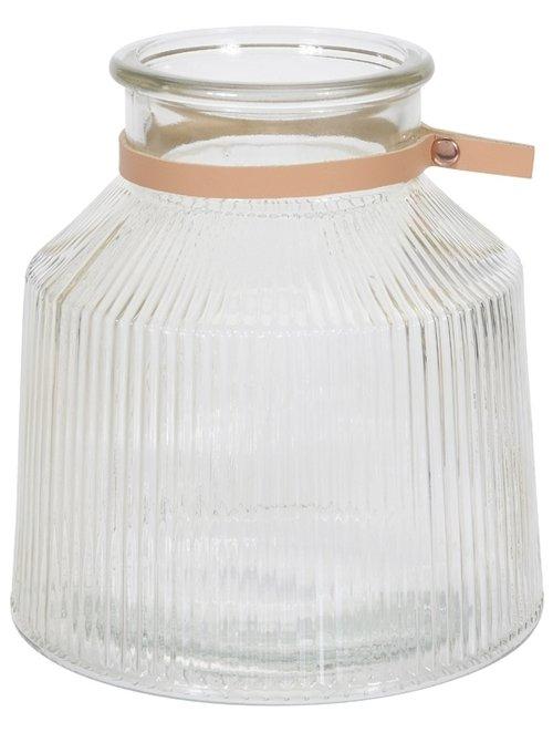 Подсвечник-ваза из стекла