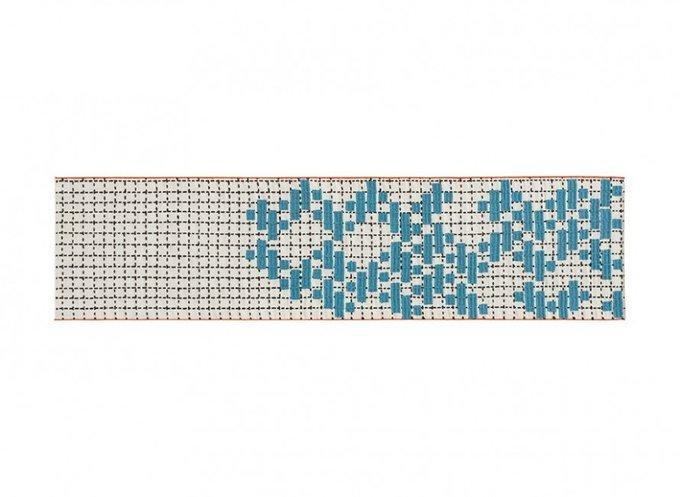 Ковер Bandas Individual бирюзового цвета 60x240