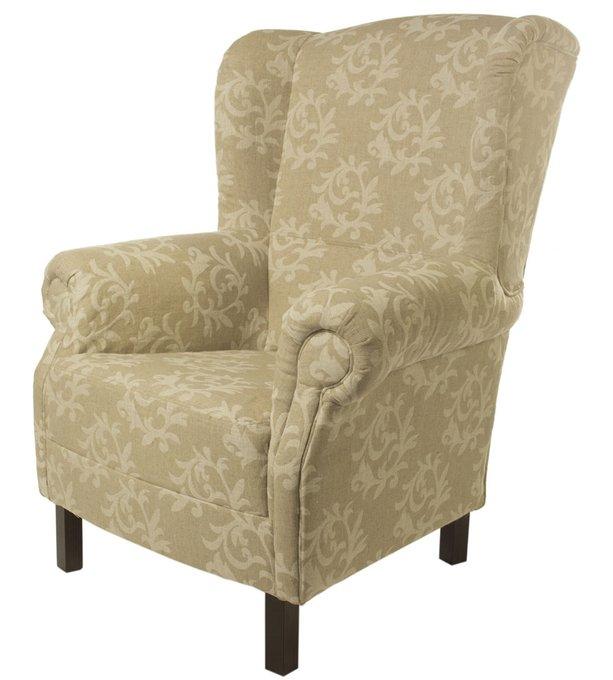 Кресло Лианы серого цвета с орнаментом