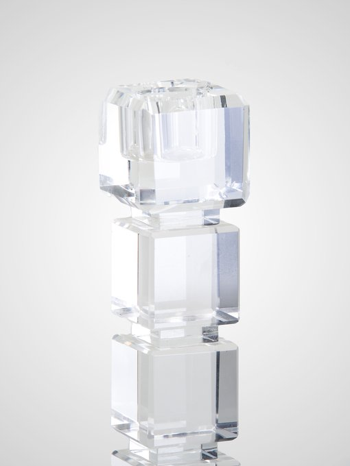 Подсвечник из прозрачного стекла
