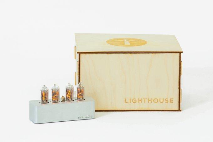 Часы на газоразрядных индикаторах Lighthouse 1.0 Steel