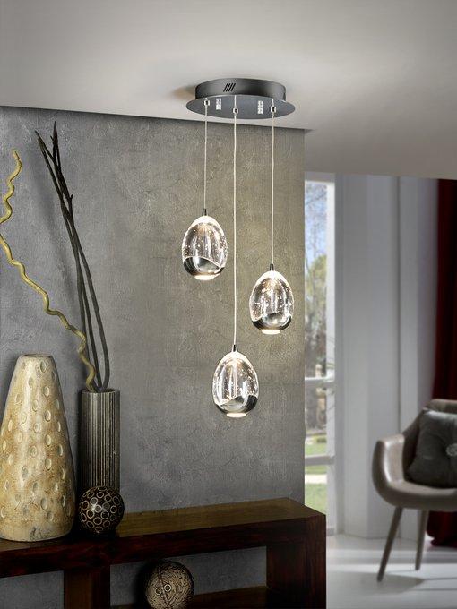 Подвесной светильник Rocio из массивного стекла