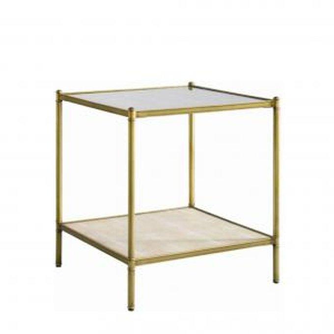 Стол ANSON SIDE TABLE -GLASS-SHAGREEN