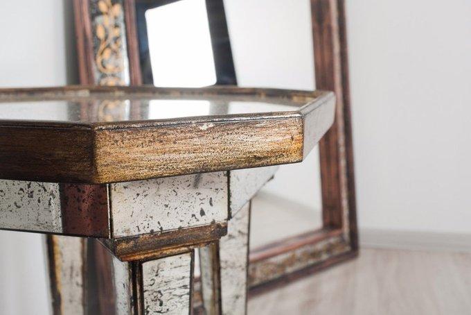 Столик Marie со столешницей из состаренного зеркала