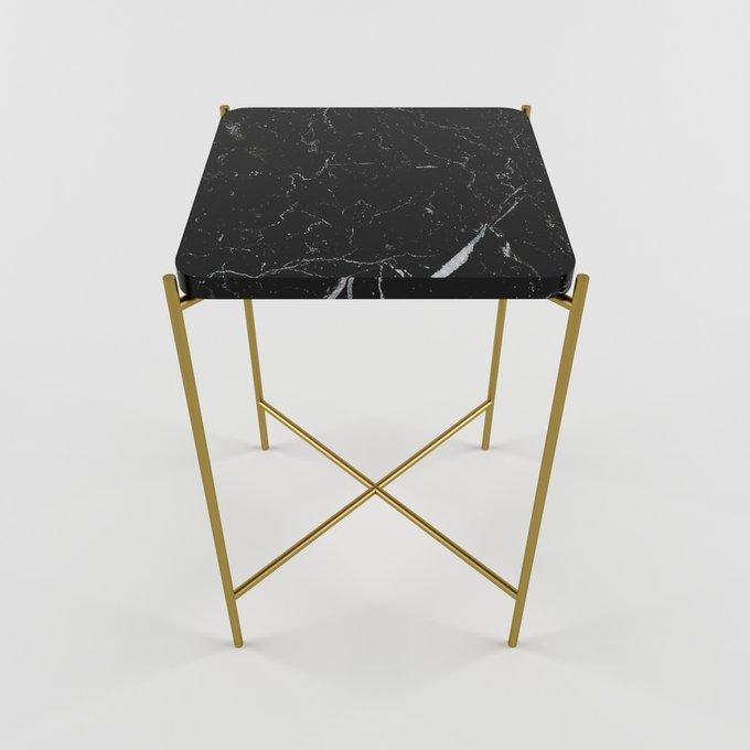 Журнальный столик с мраморной столешницей KRIT quadro gold