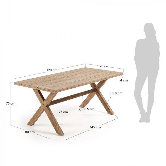 Обеденный стол Brilliant из массива дерева эвкалипт
