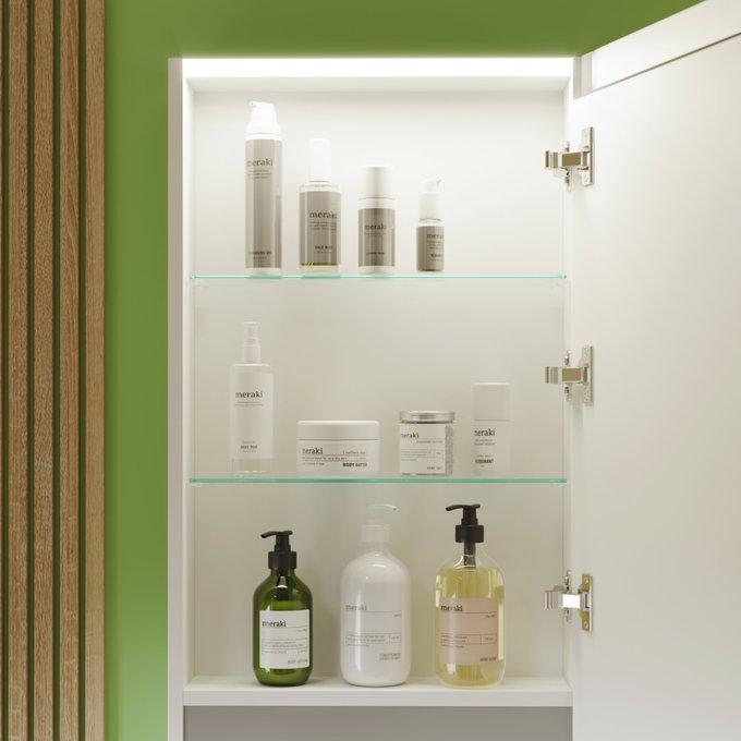 Зеркальный шкаф Cristal 45 с подсветкой