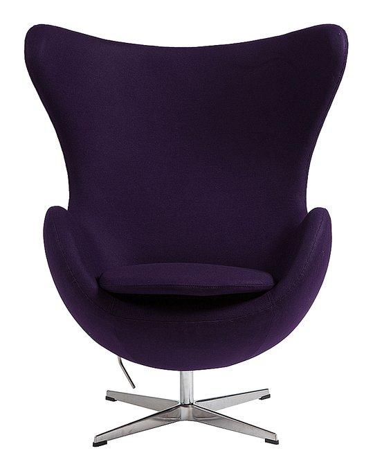 Кресло Egg Chair темно-фиолетового цвета