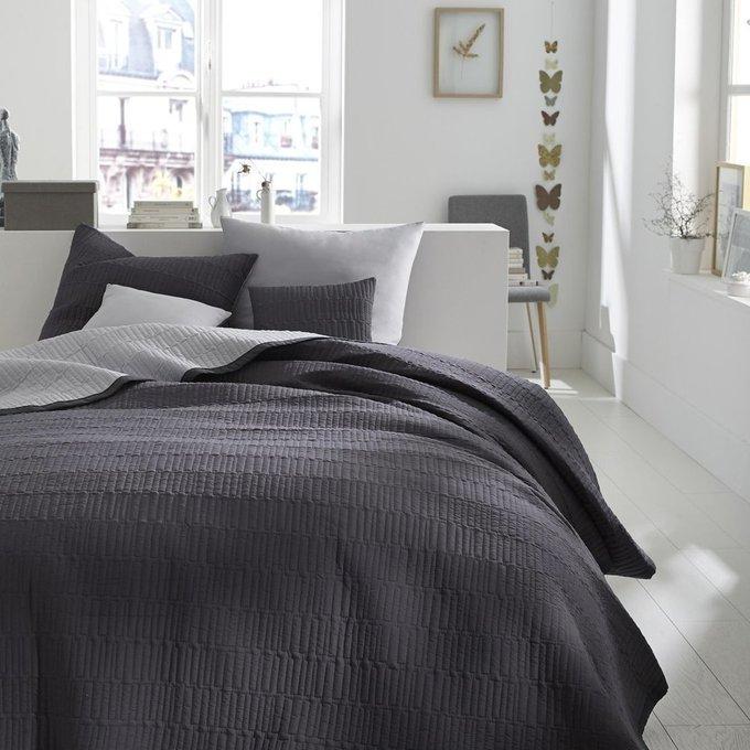Покрывало Aima стеганое серого цвета 180x250