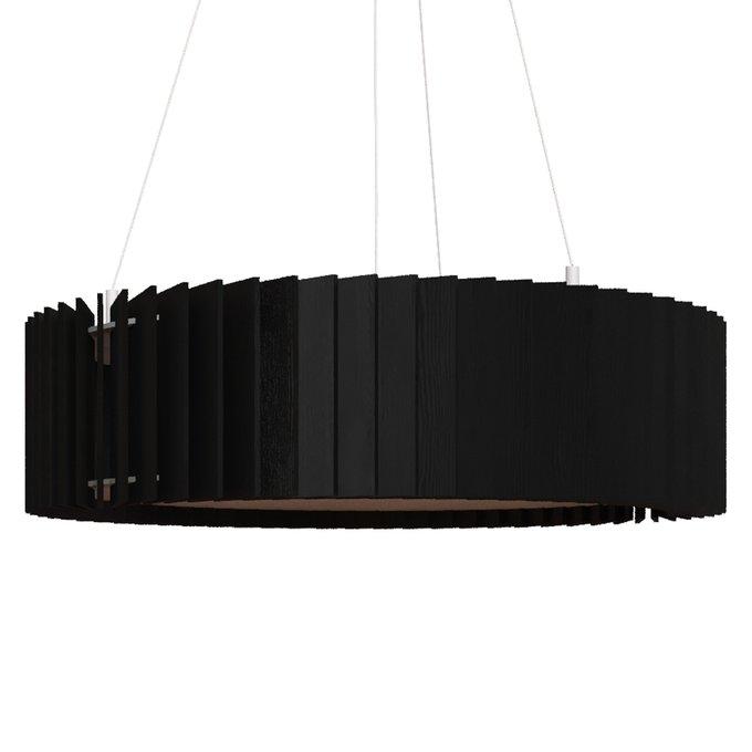 Подвесная люстра Ротор черного цвета