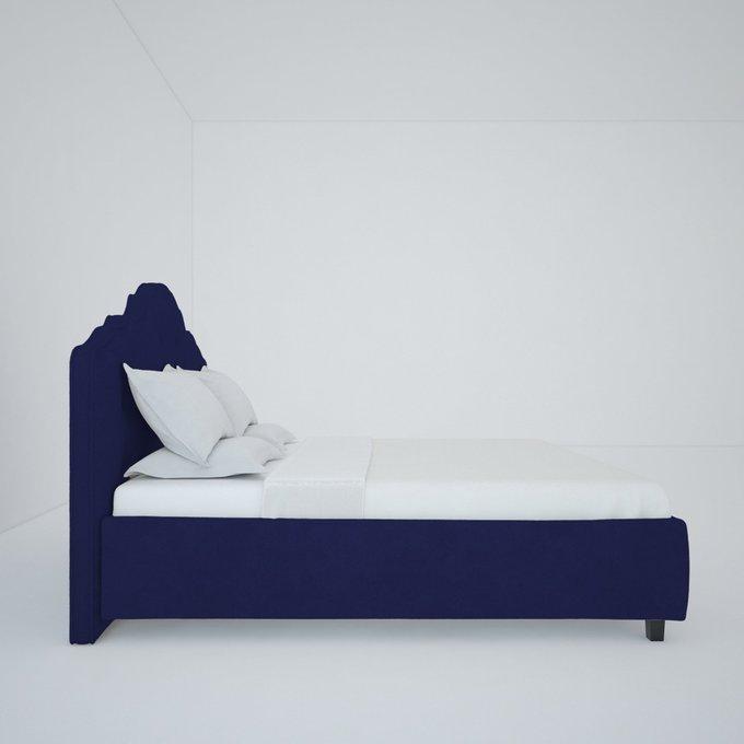 Кровать Palace темно-синего цвета 160х200 см