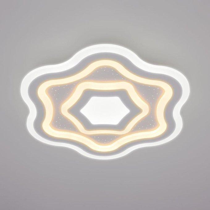 Потолочный светодиодный светильник Siluet из металла и пластика