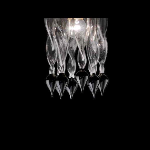 """Потолочный светильник Lamp di Volpato Patrizia """"Alaska"""" из прозрачного стекла"""