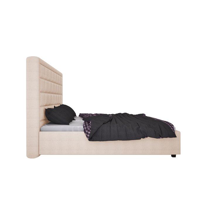 Кровать Elizabeth Велюр Светло-бежевый 200х200