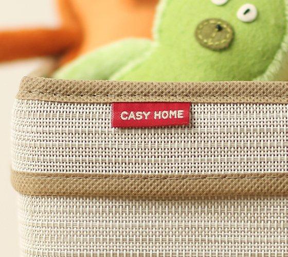 Корзинка для хранения Casy Home с ручками бежевая