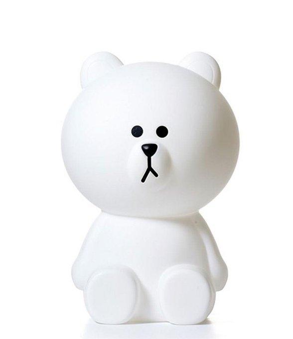 Детская настольная лампа Белый Мишка из пластика